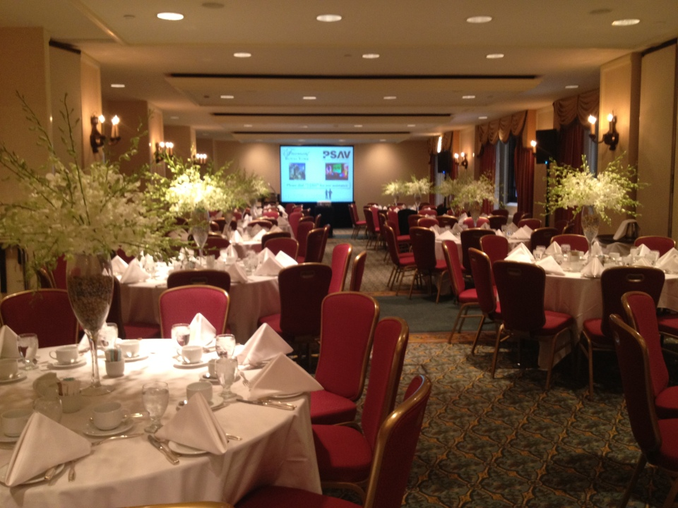 Orchid spray centerpieces at the Royal Fairmont