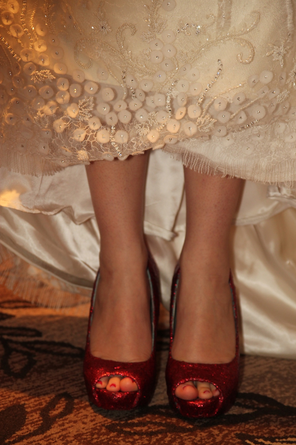 Of course we had Ruby Slippers for Dorothy. And look at the gorgeous detail on the dress!