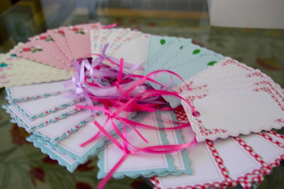 Pretty paper tags for the wishing tree