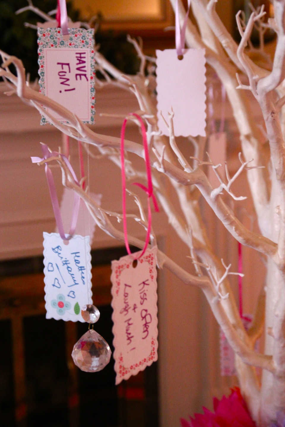 Bridal shower wishing tree