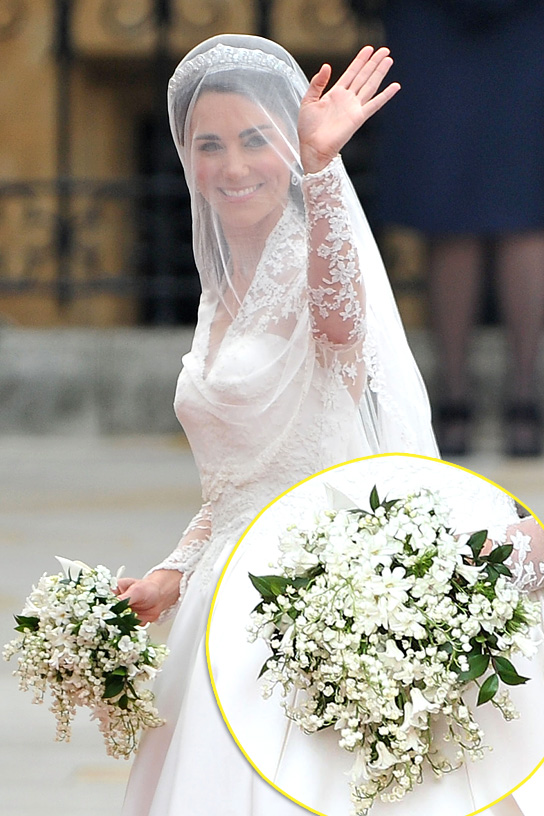 Princess Kate carried Sweet William blooms in her bouquet as a nod to her husband to be.