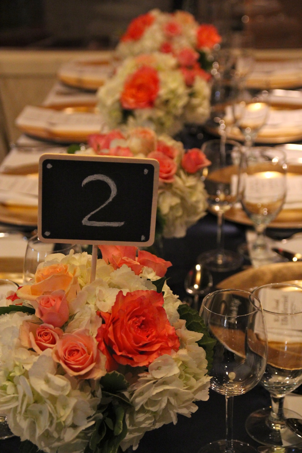 Mini chalkboards as cute table numbers