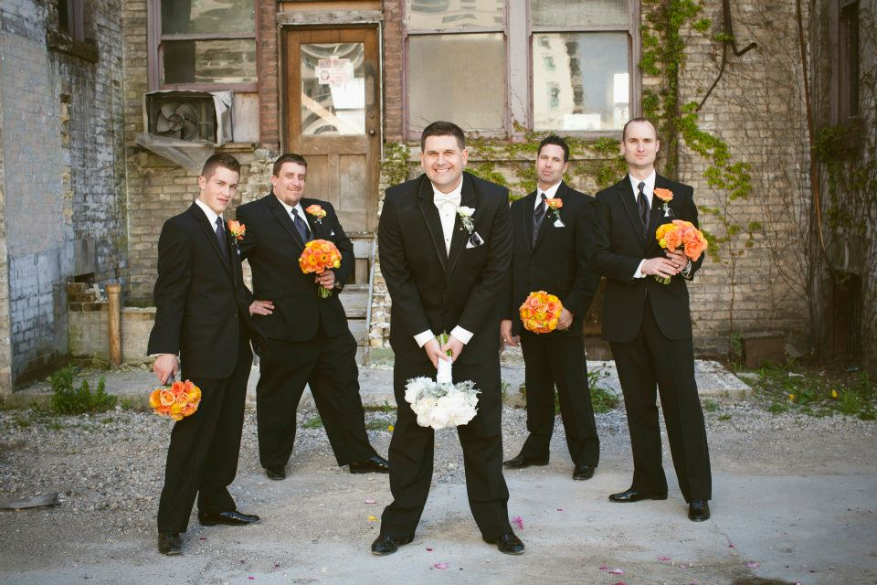 The men with the pretty bouquets