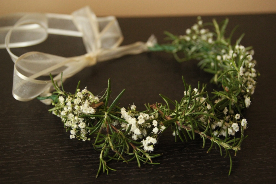Rosemary & Baby's Breath Flower Girl Crown
