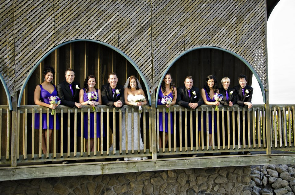 Bridal party at Hernder Winery