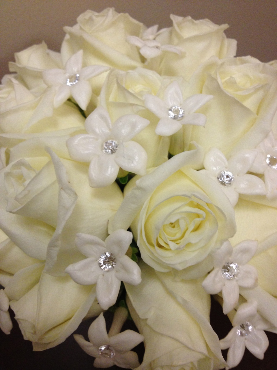 Love those sparkly stephanotis!