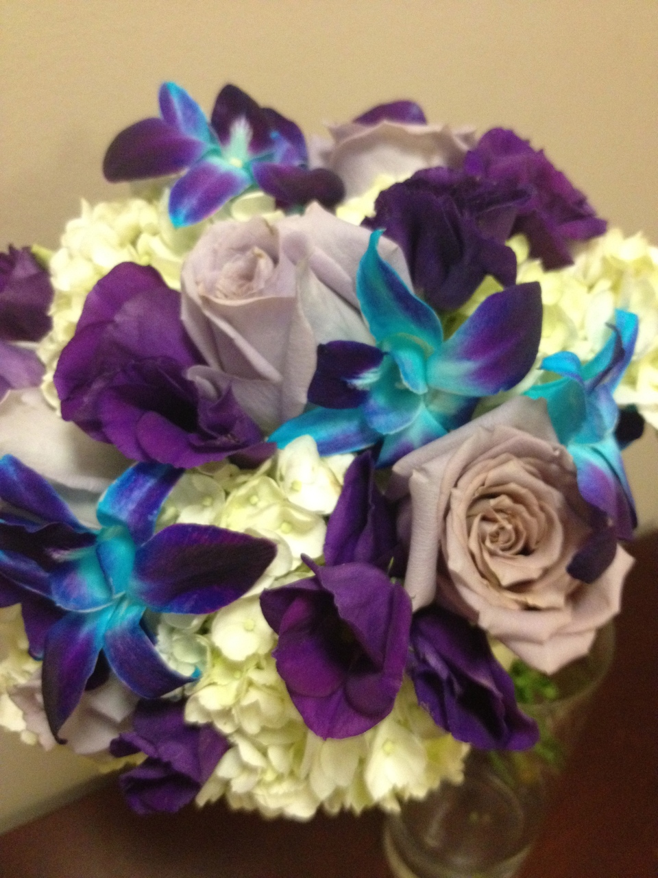 Detail of those gorgeous blue and purple orchids!