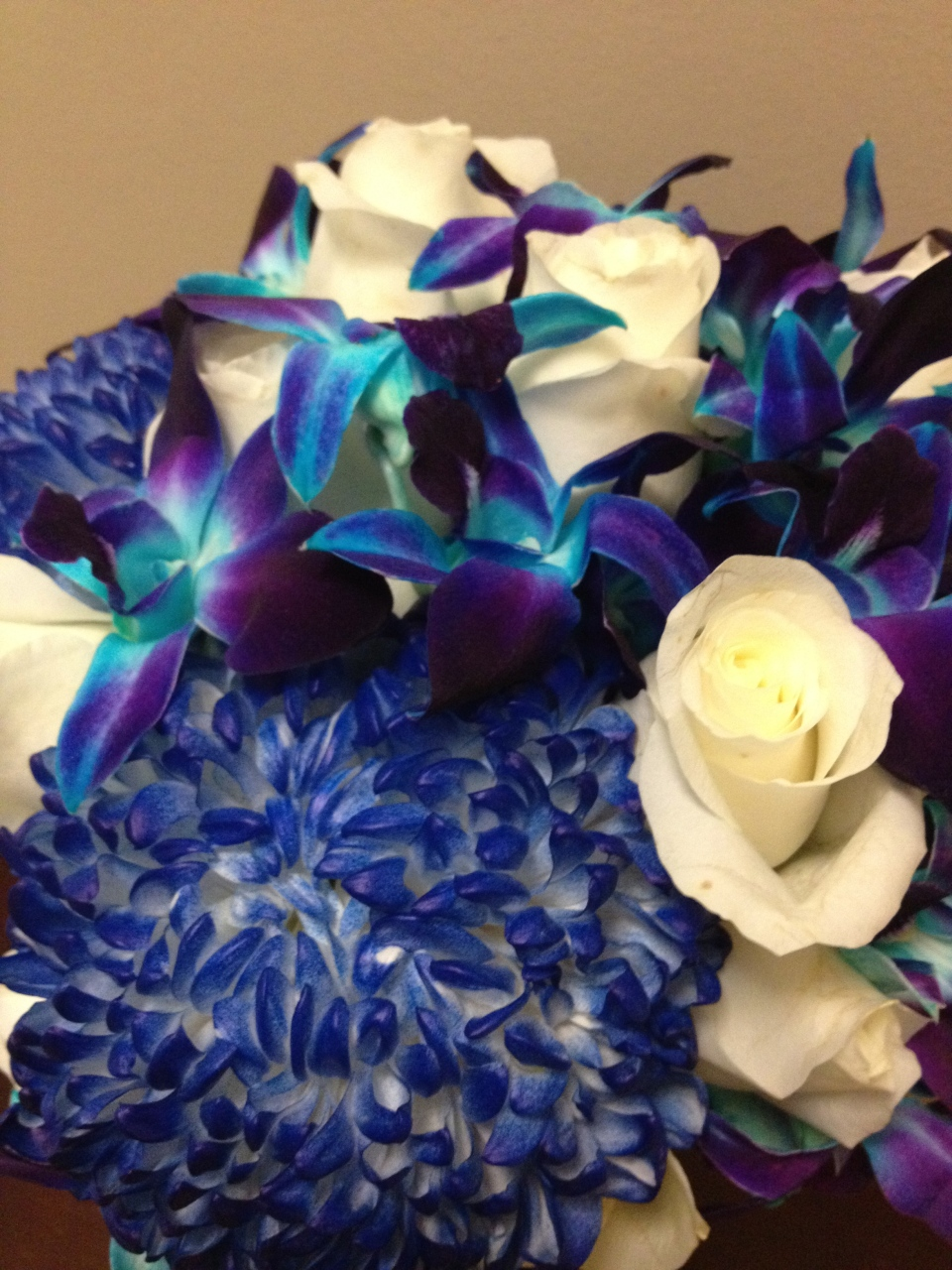 Bold royal blue bouquet
