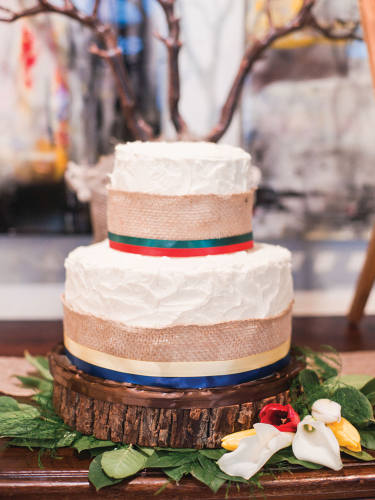 Hudson Bay Stripe Cake