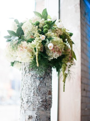 Rustic Canadiana Altar Flowers