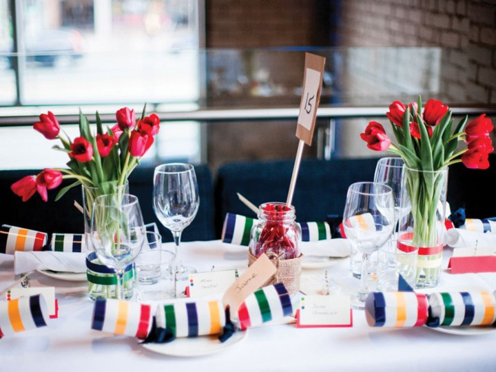 Rustic Canadiana Themed Centerpieces