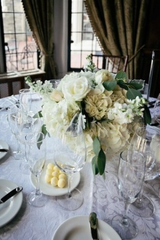 White Centerpiece - Casa Loma