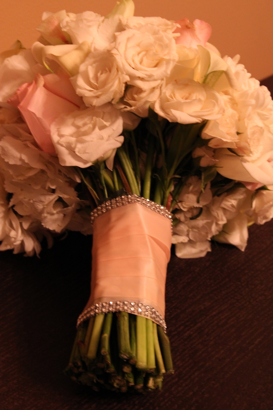 Bouquet wrap with crystal trim