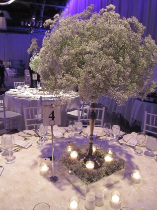 Baby's Breath Centerpiece - Liberty Grand