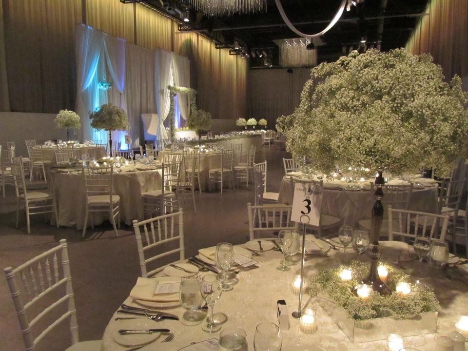 Reception set up at Liberty Grand