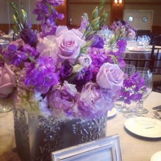 Purple Low Centerpiece