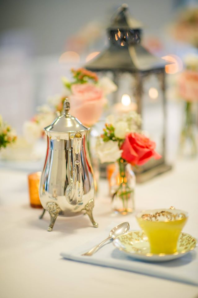 Vintage Tea Pots, Lanterns and Bud Vases