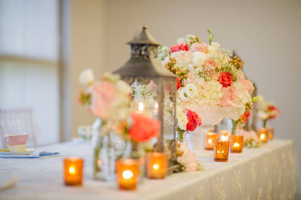 Parisian Vintage Themed Decor with Pops of Coral