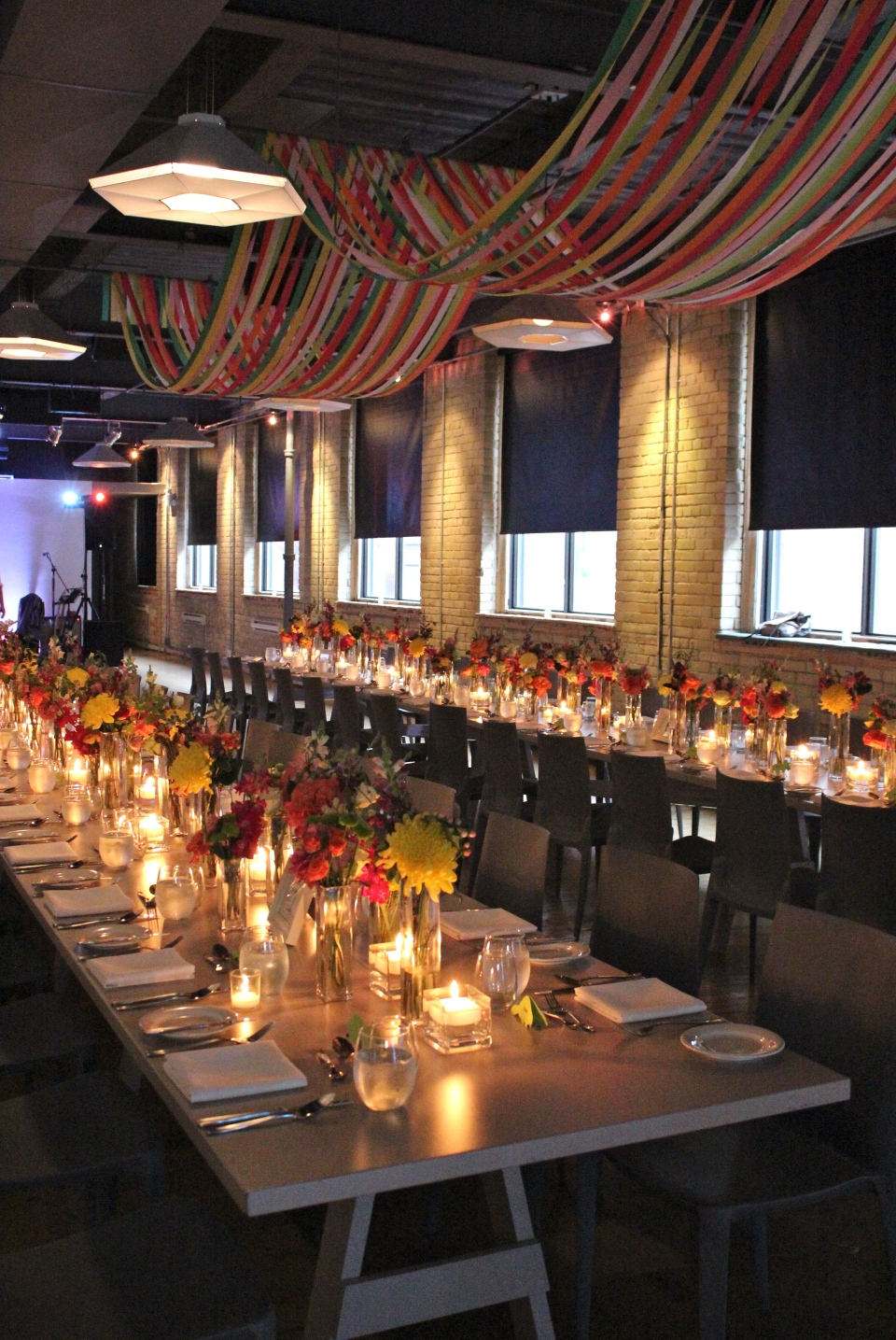 Colourful reception decor at 2nd Floor Events