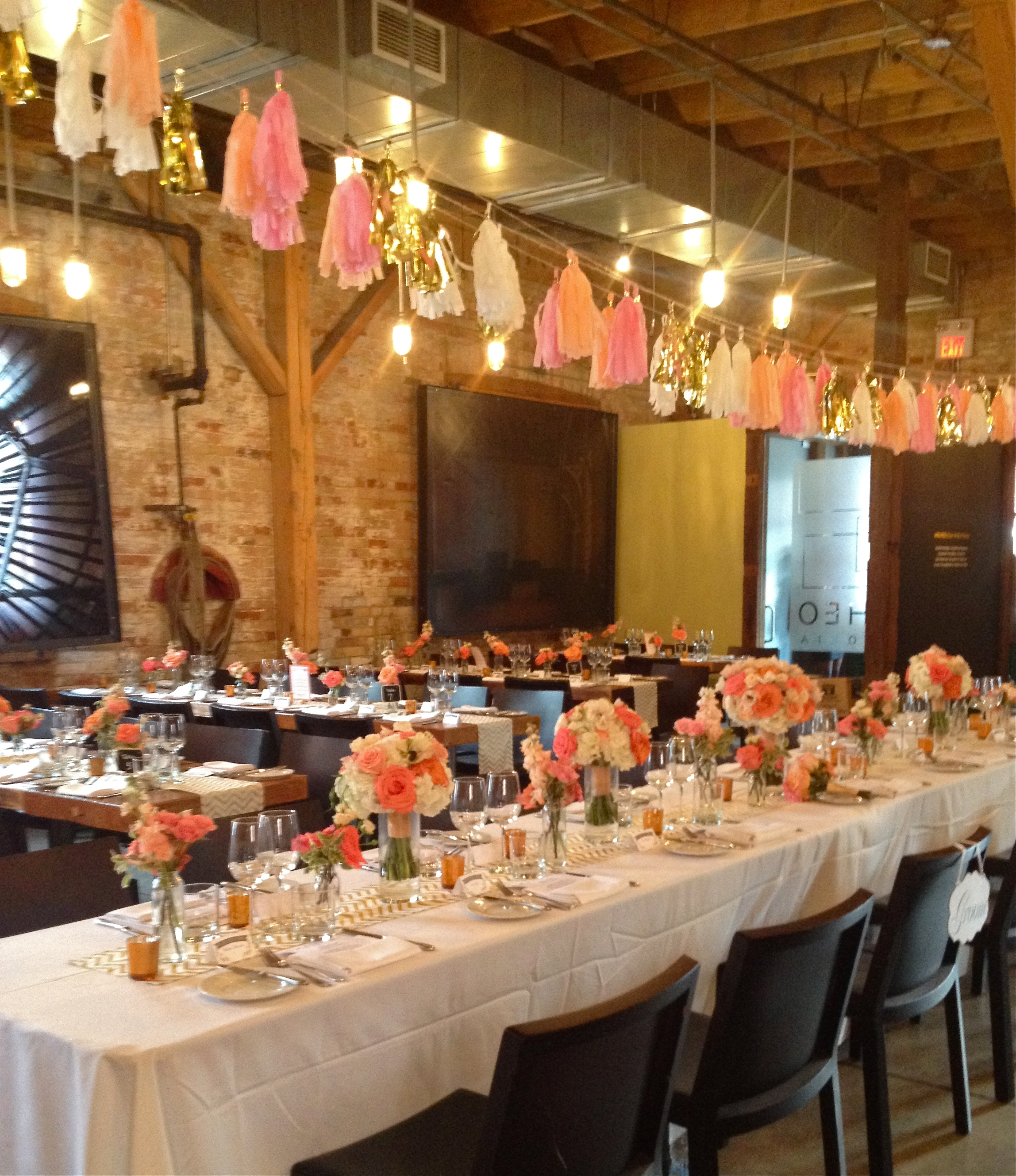 Gold Wedding Reception: Stunning Coral, Peach & Gold At Archeo
