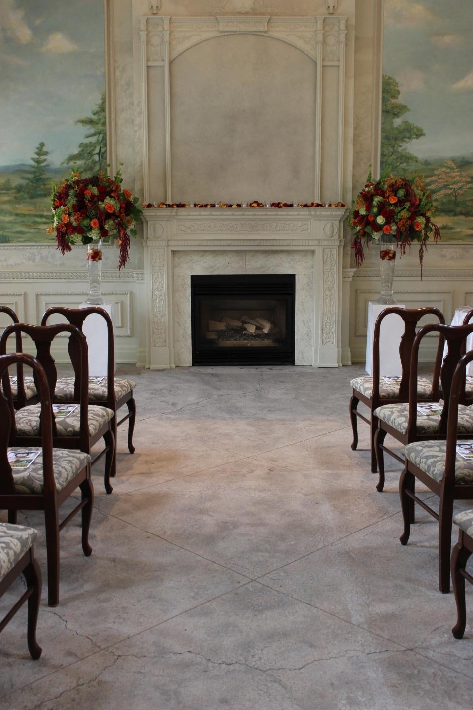 Fall ceremony flowers - graydon hall manor
