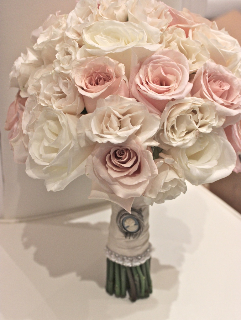 Blush and Cream Rose Bridal Bouquet