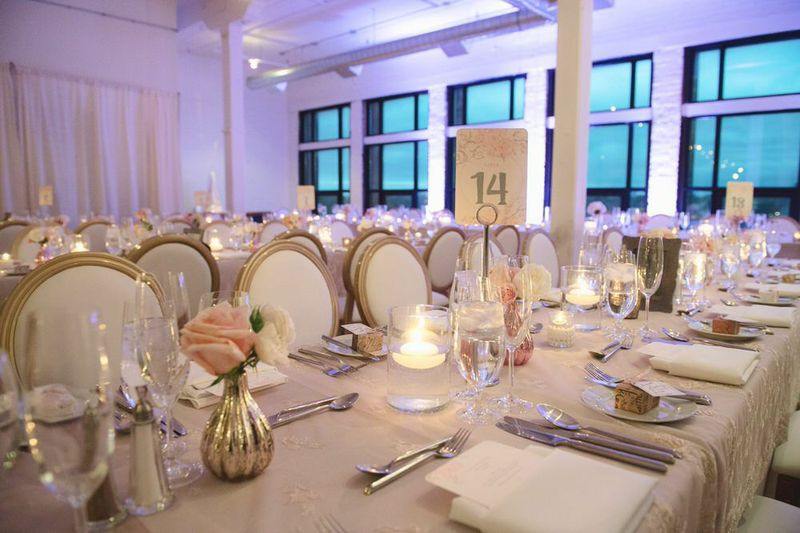 Blush & Gold Wedding at Burroughes Building