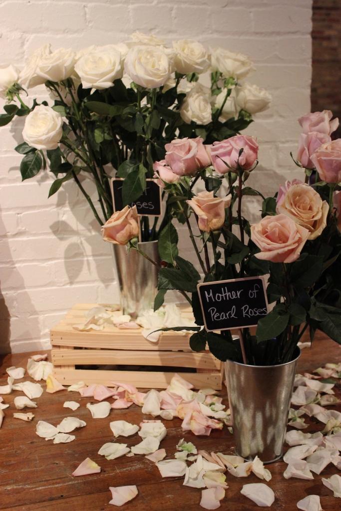 Flower Market Wedding Set up