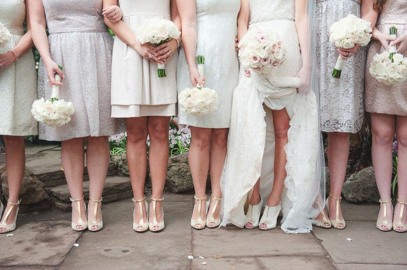 Ivory and Blush Bridal Party