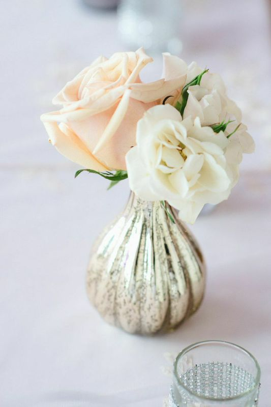 Mercury Bud Vase with Roses