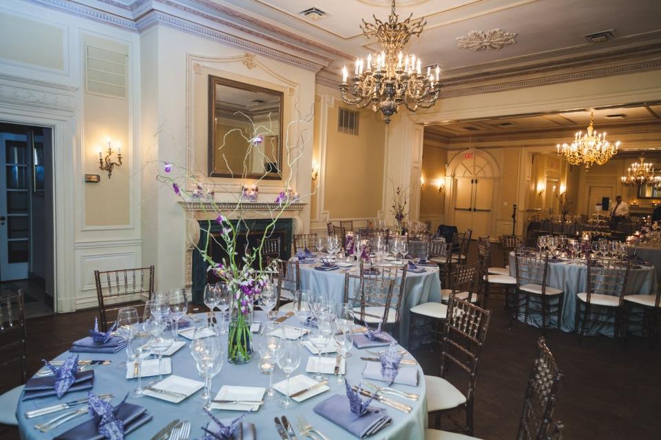 Purple Wedding Centerpieces- Graydon Hall