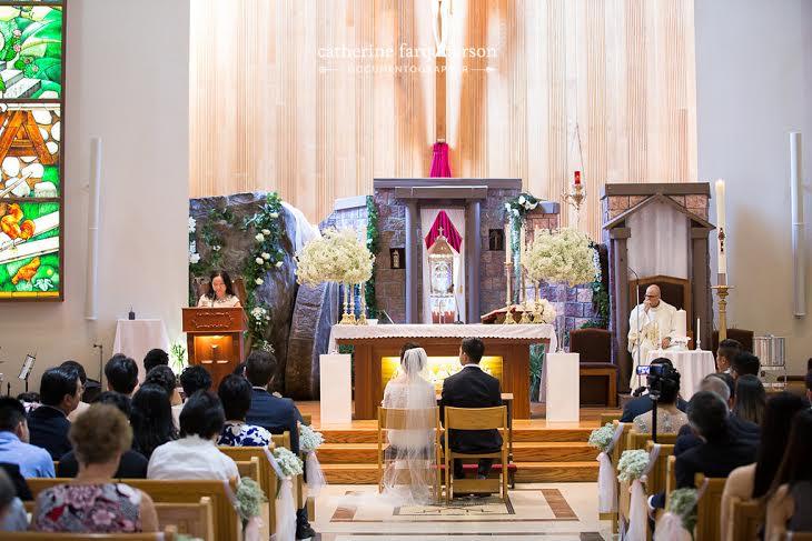 Baby's Breath Church Ceremony Flowers