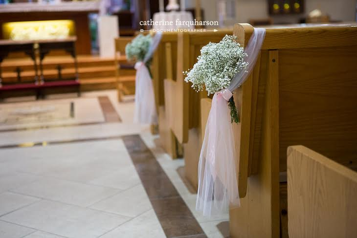 Baby's Breath Pew Markers