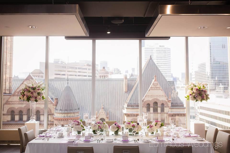 Head Table Flowers - Arcadian Loft, Toronto
