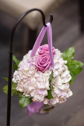 Lavender Rose and Hydrangea Aisle Marker - Arcadian Loft