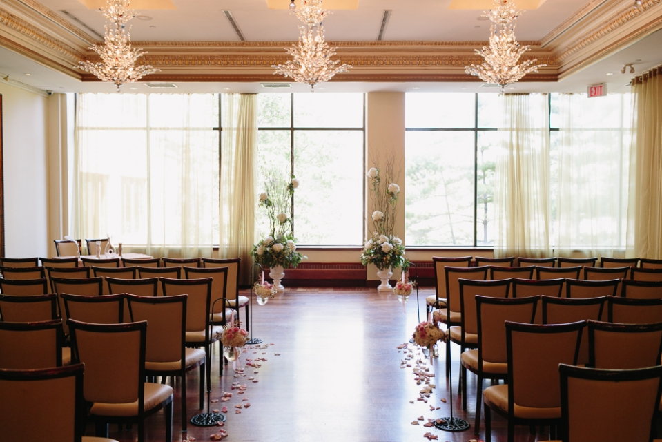 Ceremony Setup Rosewater Room