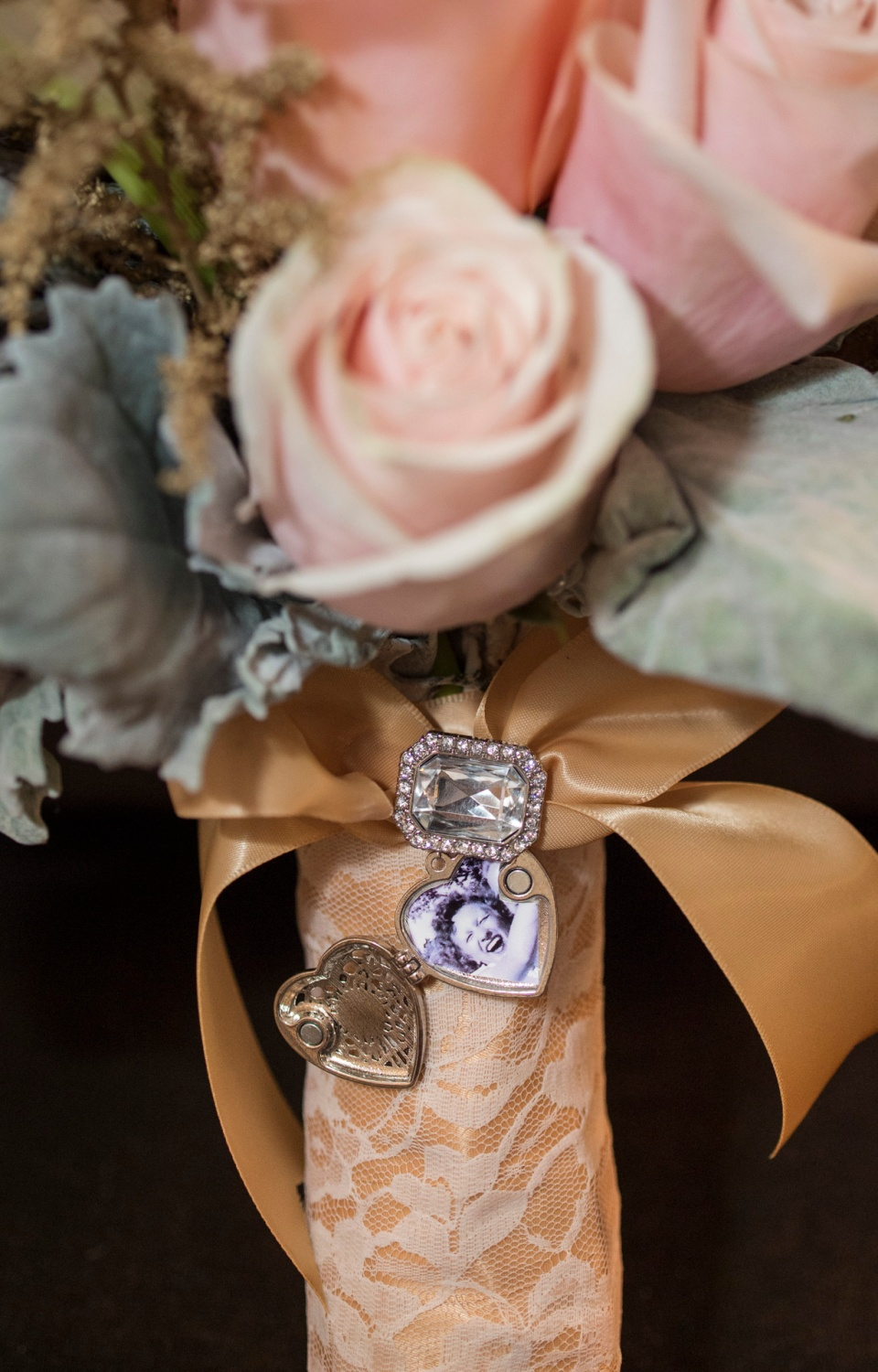 Locket Detail Bridal Bouquet