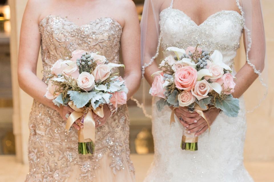 Neutral Bridal and MOH Bouquets