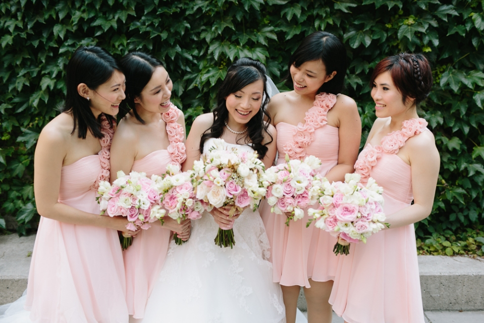 Pink and Gold Summer Wedding