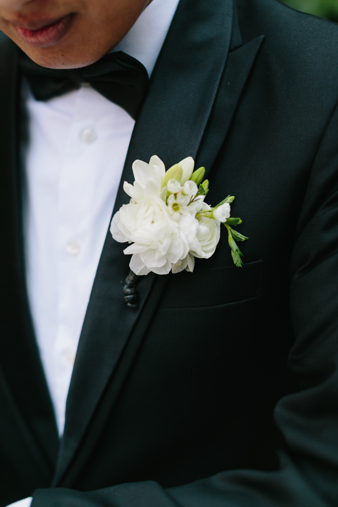 Ranunculus and Freesia Boutonniere