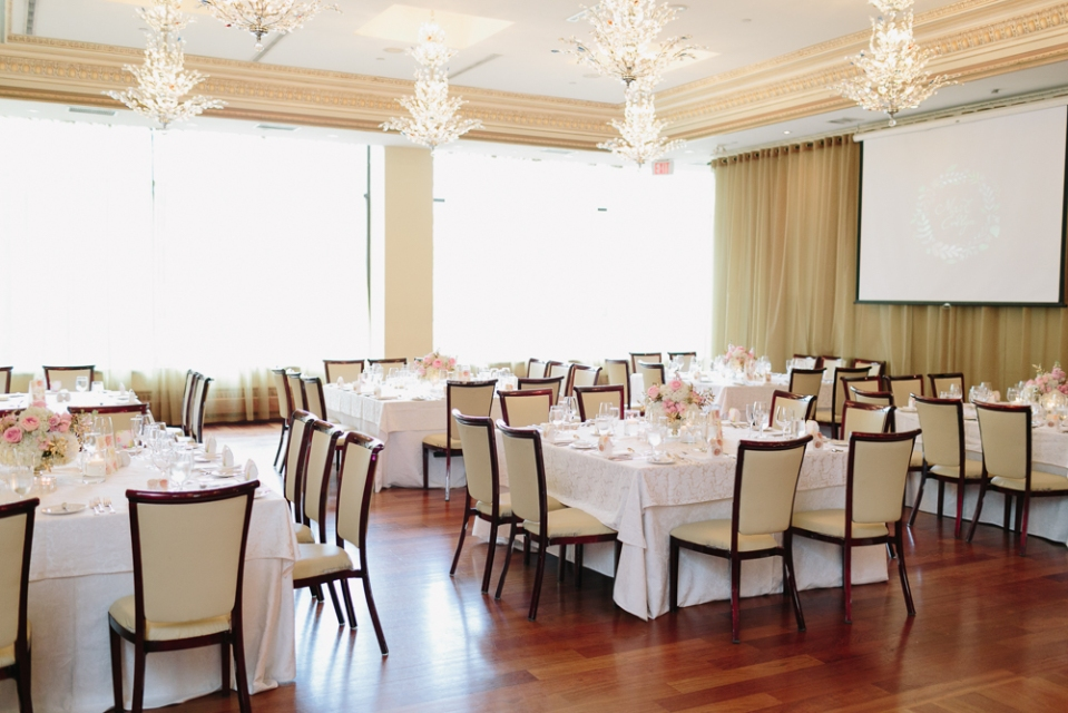 Reception Setup at Rosewater Room