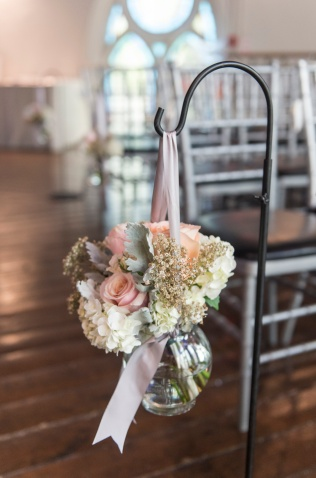 Shepherd Hook Flowers - Blush, Grey and Gold