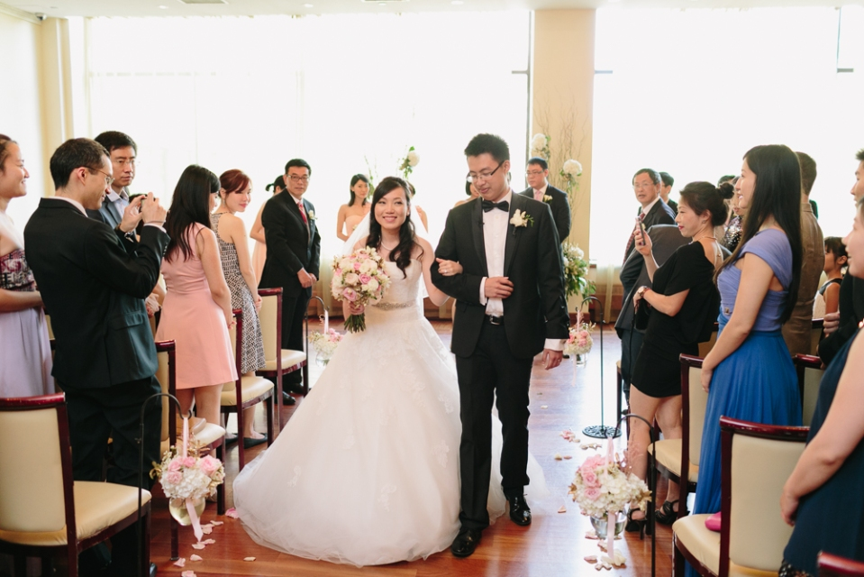 Wedding Ceremony at Rosewater Room