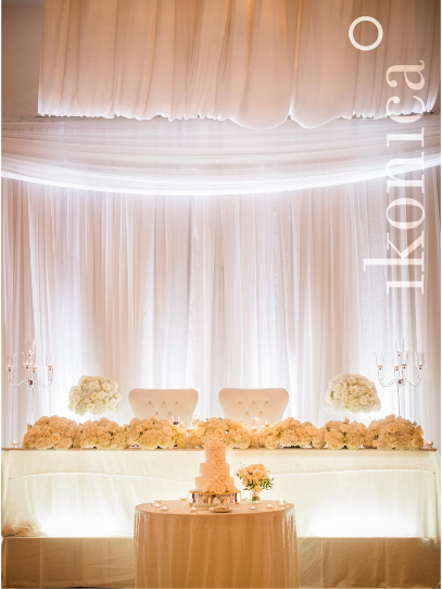 White Floral Garland - Head Table