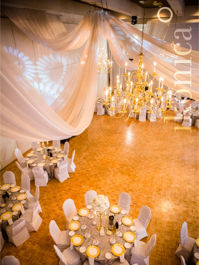 White Tall Centerpieces - Carmen's Banquet Hall