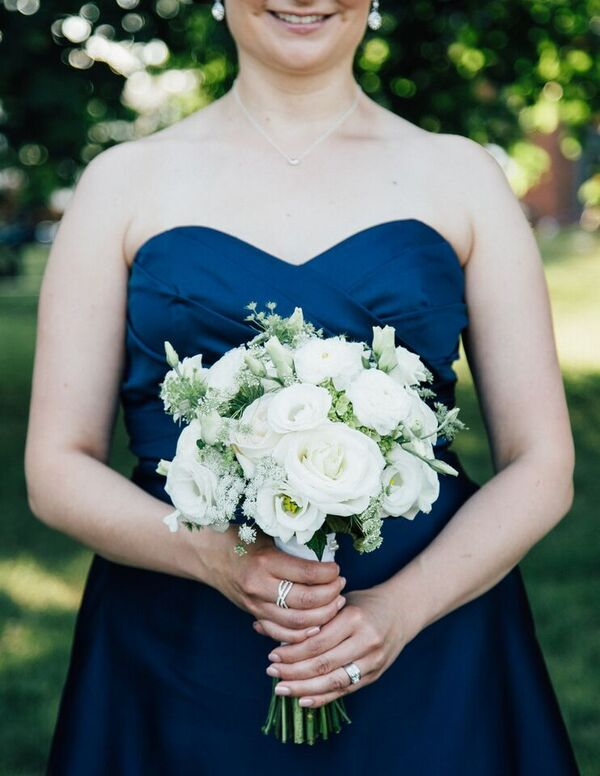 White Summer Bridesmaid Bouquet