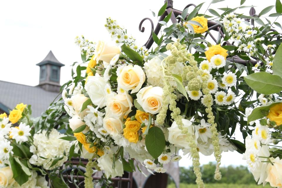 Wildflower Covered Wedding Arch